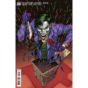 The Joker Presents: A Puzzlebox (2021) #1 VF/NM 1:25 Jesus Merino Variant Cover