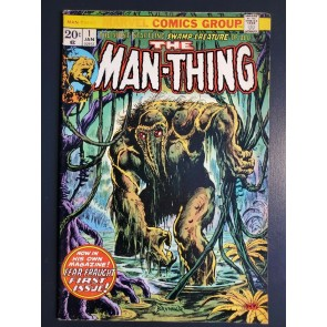 THE MAN-THING #1 (1974) F- (5.5) 2ND APP. HOWARD THE DUCK BRUNNER ART |