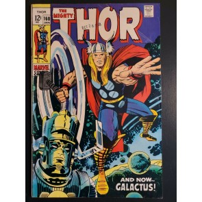 THE MIGHTY THOR #160 (1969) VG+ (4.5) VS. GALACTUS, EGO APPEARANCE, KIRBY ART |