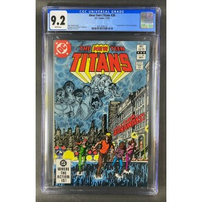 The New Teen Titans (1980) #26 CGC 9.2 White Pages George Perez (3822924018)