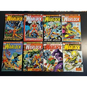 The Power of Warlock (1972) #1-8 higher grade lot of 8 F/VF MCU debut coming 