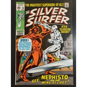 THE SILVER SURFER #16 (1970) VF- (7.5) MEPHISTO COVER/STORY |