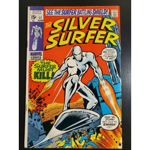 THE SILVER SURFER #17 (1970) F/VF (7.0) VS. SHIELD MEPHISTO STORY |