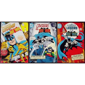 THE UNTOLD LEGEND OF THE BATMAN (1980) #;s 1, 2, 3 SET CEREAL PROMO ASHCAN