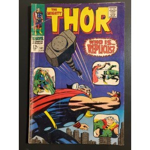 Thor #141 (1967) VG- (3.5) Stan Lee and Jack Kirby Replicus|