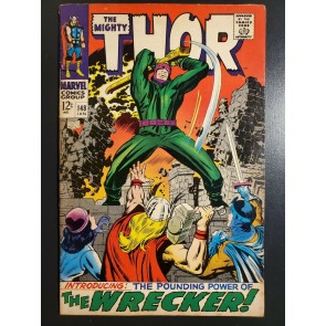 Thor 148 (1968) F+(6.5) 1st App The Wrecker Jack Kirby art Origin of Black Bolt|