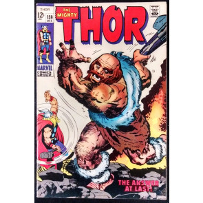 THOR #159 FN/VF PART 2 ORIGIN OF THOR STAN LEE JACK KIRBY