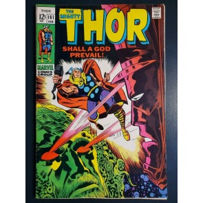 THOR #161 (1969) VF (8.0) GALACTUS TRILOGY VS EGO THE LIVING PLANET KIRBY ART |