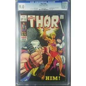 Thor #165 1969 CGC 9.0 VF/NM old label 1st full App Him/Adam Warlock 1290032020|