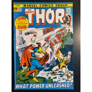 THOR #193 (1971) FN/VF 7.0 SILVER SURFER CROSSOVER 52 PAGES PICTURE FRAME COVER|