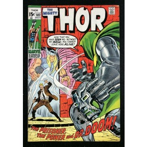 Thor (1966) #182 VG+ (4.5) vs Doctor Doom cover & story