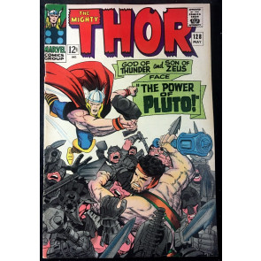 Thor (1966) #128 FN/VF (7.0) side by side with Hercules vs Pluto