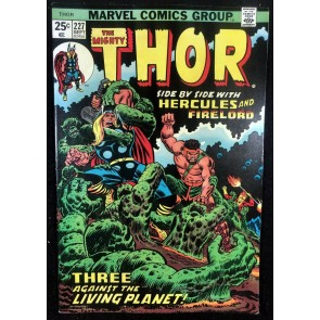 Thor (1966) #227 VF- (7.5) With Hercules Firelord Galactus vs Ego
