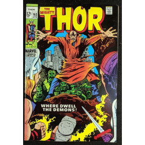 Thor (1966) #163 VF- (7.5) 2nd brief app Warlock (Him)