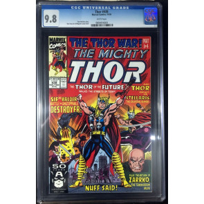 Thor (1966) #438 CGC 9.8 white pages Thor War part 1 of 4 (0804916001)