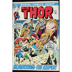 Thor (1966) #196 FN (6.0) vs Mangog picture frame cover