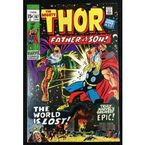 Thor (1966) #187 VF+ (8.5) vs Odin Father versus Son