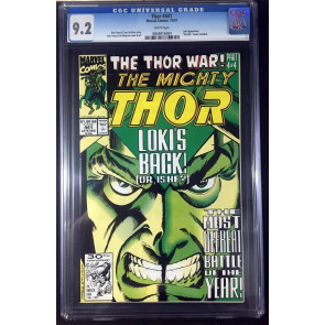 Thor (1966) #441 CGC 9.2 white pages Thor War part 4 of 4 (0804916004)