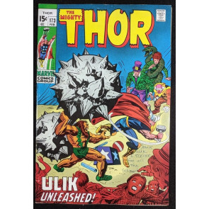 Thor (1966) #173 FN+ (6.5) vs Ulik Circus of Crime app