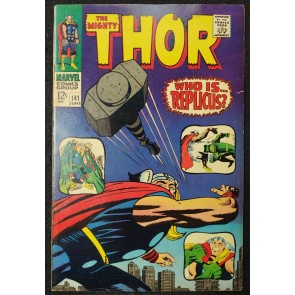 Thor (1966) #141 FN+ (6.5) Jack Kirby Cover & Art Replicus