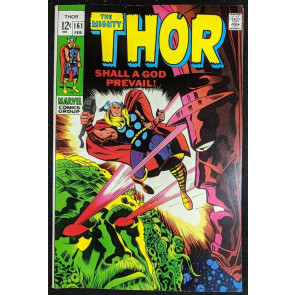 Thor (1966) #161 VF (8.0) Galactus story part 2 of 3 vs Ego