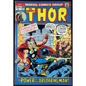 Thor (1966) #206 VF- (7.5) vs Absorbing Man picture frame cover