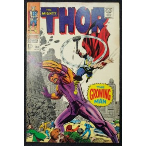 Thor (1966) #140 FN- (5.5) 1st App The Growing Man Jack Kirby Cover & Art