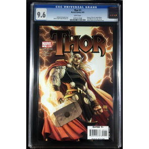 Thor (2007) #1 CGC 9.6 white pages Michael Turner cover (0767221008)