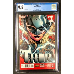 Thor (2014) #1 CGC 9.8 Jane Foster Becomes New Thor (3701831020)