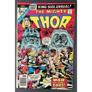 Thor Annual (1966) #5 VF- (7.5) 1st App Hoenir/Lodur Jack Kirby John Buscema Art