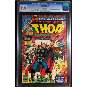 Thor Annual (1977) #6 CGC 9.4 Korvac Saga part 1 of 12 GOTG app (0140263028)