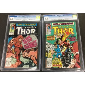 Thor (1966) 411 & 412 both CGC 9.6 1st app New Warriors (1099761013) (10997614)