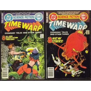 TIME WARP (1979) #'s 1, 2, 3, 4 NEAR COMPLETE SET MIKE KALUTA COVERS SCI-FI