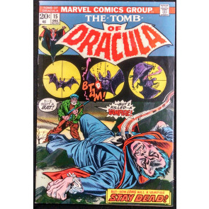 TOMB OF DRACULA #15 FN/VF GENE COLAN