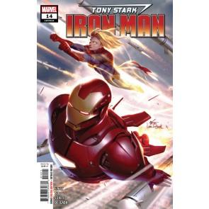 Tony Stark: Iron Man (2018) #14 VF/NM Dan Slott Captain Marvel App