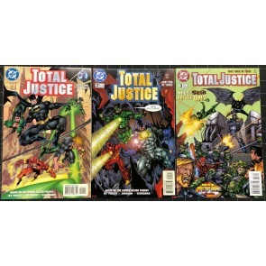 Total Justice (1996) #1-3 complete set Justice League Christopher Priest story