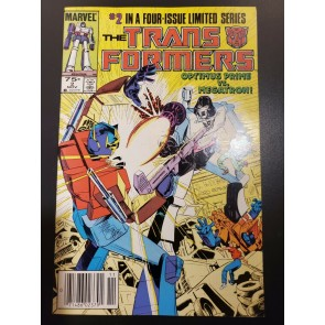 Transformers #2 (1984) VF/NM (9.0) Newsstand UPC 2nd app Optimus Prime |