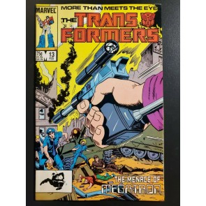 Transformers v.1 #13 (1986) NM- (9.2) Marvel Comics Megatron gun cover |