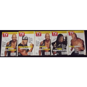 TV GUIDE LOT OF 33 MAGAZINES DECEMBER 5TH 1998-MAY 7TH 1999 WWF X-FILES FUTURAMA