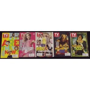 TV GUIDE LOT OF 41 MAGAZINES JUNE 17TH 2000-AUGUST 25TH 2000 X-MEN WWF NASCAR