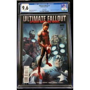 Ultimate Fallout (2011) #4 CGC 9.6 2nd print 1st app Miles Morales (2016786021)