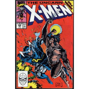 Uncanny X-Men (1963) #258 VF- (7.5) Jim Lee Wolverine battle cover