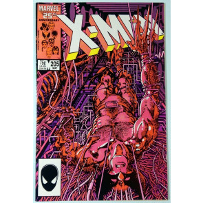 Uncanny X-Men (1981) #205 NM- (9.2)  Wolverine solo - artist Barry Smith