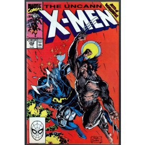 Uncanny X-Men (1963) #258 FN (6.0) Jim Lee Wolverine battle cover