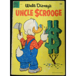 UNCLE SCROOGE #'s 9 & 10 WALT DISNEY DELL COMICS 1955 EARLY LOT