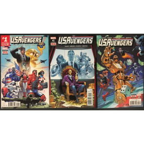 U.S.Avengers (2017) #1 2 3 6 7 8 11 12 near complete 8 comics missing 4 5 9 10