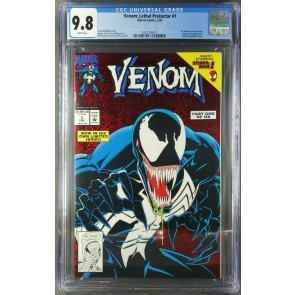 Venom Lethal Protector 1 (1993) CGC 9.8 White Pages NM/M Foil Cover Modern key 