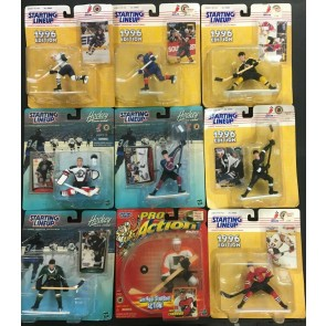 Vintage Starting Line Up Lot of 33 figures MOC Baseball Hockey Football