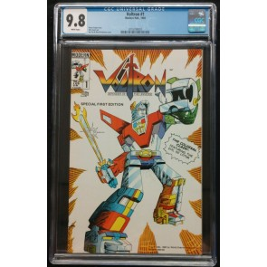 Voltron (1985) #'s 1 2 CGC 9.8 & #3 9.6 White Pages Graded Set