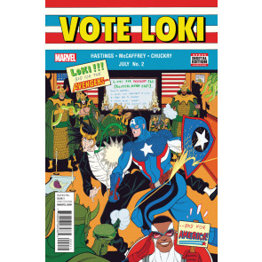 Vote Loki (2016) #2 VF/NM Captain America